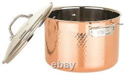 Viking 3-Ply Hammered Copper Clad 10 PC Cookware Set with Tempered Glass Lid NEW