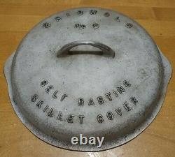 Vintage Griswold Cast Iron No. 9 Self Basting 1048A Skillet Lid Cover Only