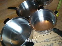 Vintage Lifetime Cookware T304cc Stainless 12 piece Cookware Set with lids