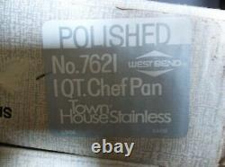 Vintage WEST BEND Stainless Steel Cookware Set. New in Sealed Boxes. Polished