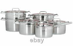 Zwieger Klassiker Set Of Pots 11 Pcs Cookware Stockpot Stewpots Glass Lids Pot