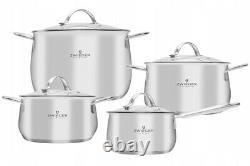 Zwieger Practi Plus Set Of Pots 8 Pcs Cookware Stockpot Stewpots Glass Lids Pot