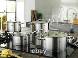 Zwilling Vitality 5 Piece Cookware Set Stew Stock Pot Sauce Pan Stainless Steel