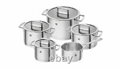 Zwilling Vitality Luxury 5 Pc Cookware Set Pot Pan Set Stainless Steel Induction